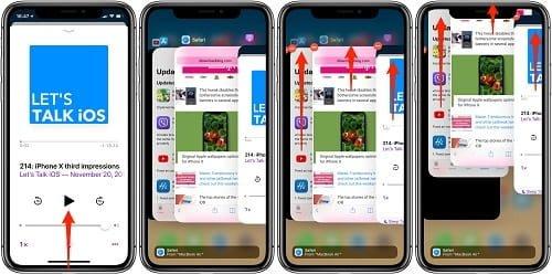 tắt nhanh các ứng dụng của iphone x