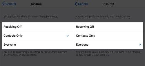 cách bật AirDrop trên iPhone X