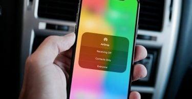 kích hoạt AirDrop trên iPhone X