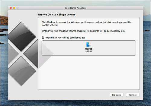 cài Windows trên Mac Với Boot Camp bị lỗi màn hình