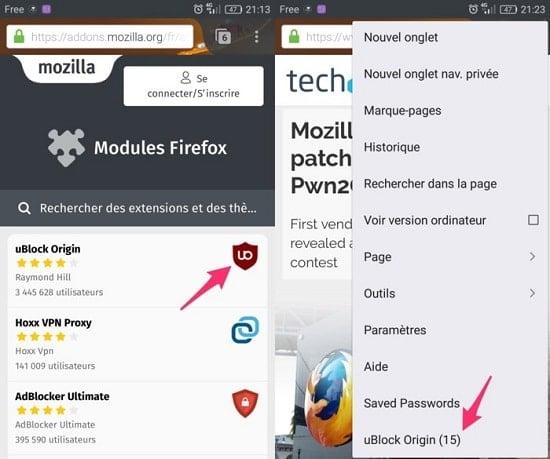chặn quảng cáo trên Firefox