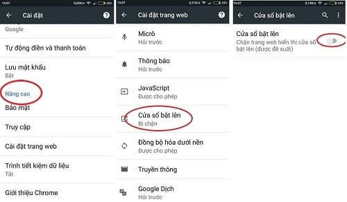 chặn quảng cáo trên trình duyệt google chrome android