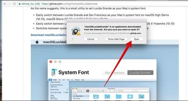 những kiểu Font chữ mặc định của MacOS High Sierra