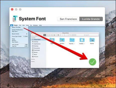 Font chữ mặc định của MacOS High Sierra