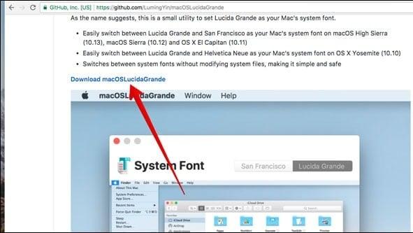 LÀM SAO ĐỂ Font chữ mặc định của MacOS High Sierra