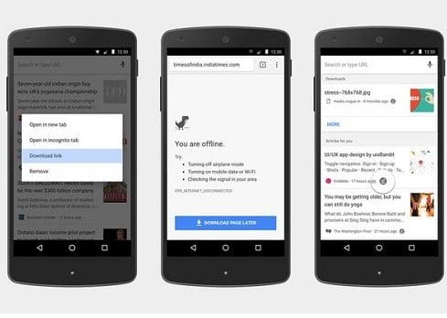 danh sách đọc google chrome cho android