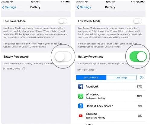 hình ảnh cách tiết kiệm pin iphone x