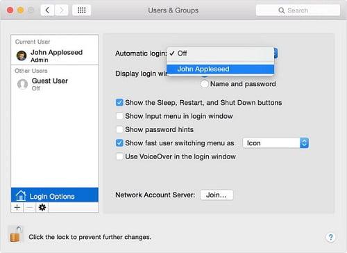 đổi tên tài khoản cho mac