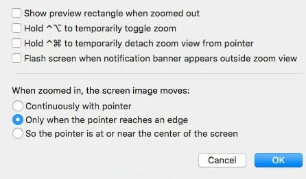 macbook phóng to màn hình