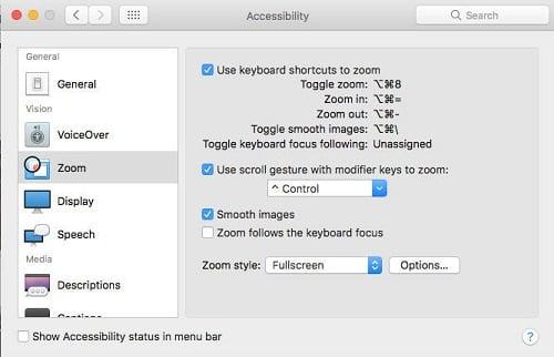 phong to màn hình cho macbook