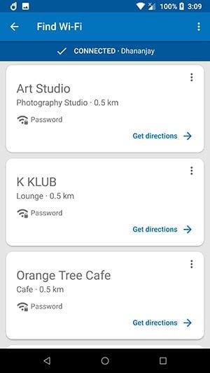 tìm wifi với datally