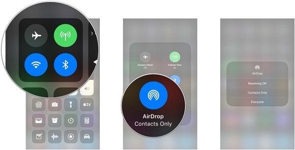 cách sử dụng Airdrop cho iphone x