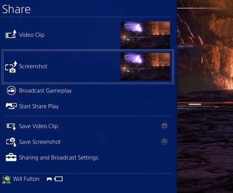 hướng dẫn ảnh chụp màn hình PS4