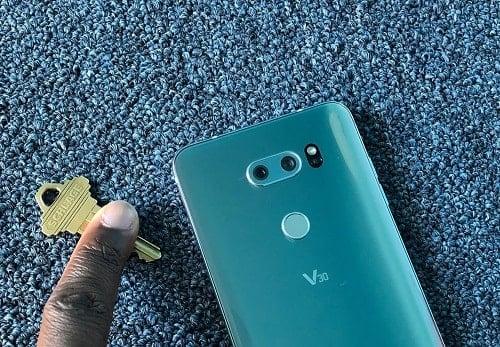 sửa lỗi dấu vân tay của điện thoại LG V30