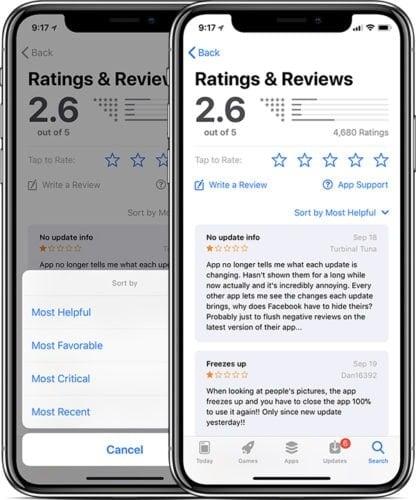 AppStore trên điện thoại iPhone X