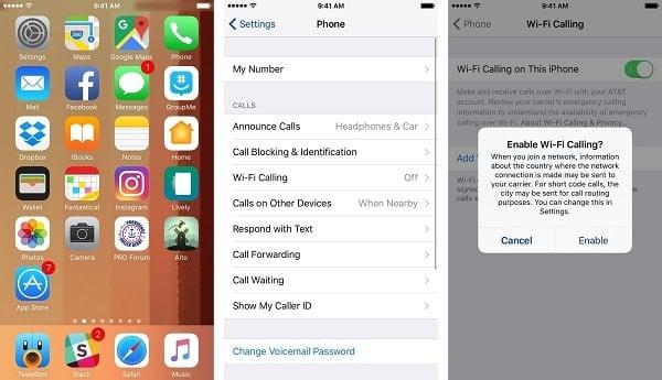 gọi điện trên iphone bằng wifi miễn phí