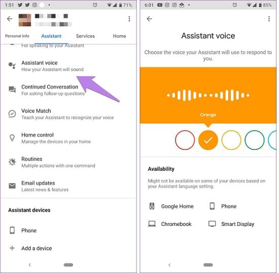 Cách thay đổi giọng nói của trợ lý google assistant
