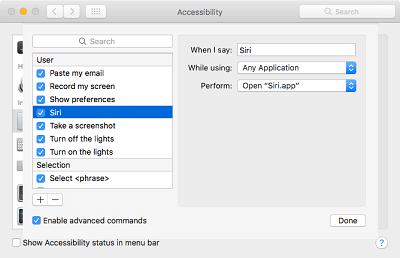 sửa lỗi dùng siri trên macbook