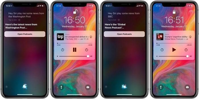 sửa lỗi bật siri news của iphone