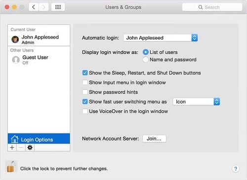 cách xóa tài khoản trên máy tính MAC
