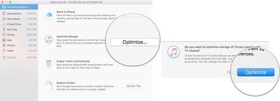 tối ưu bộ nhớ của MAC OS