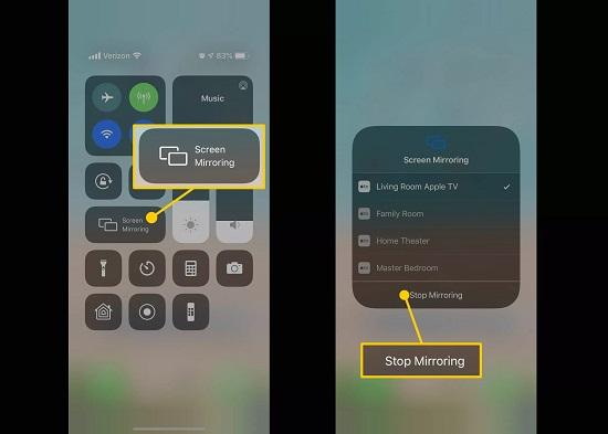 cách tắt airplay trên iphone
