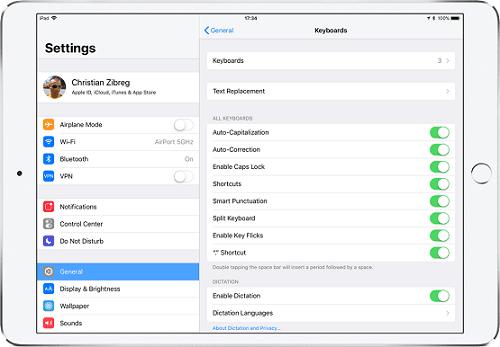 cách tắt bàn phím flick keyboard trên iPad