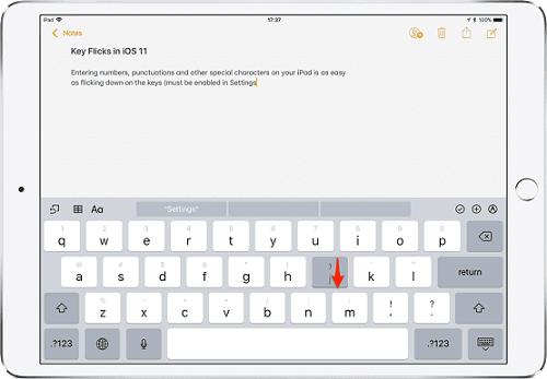 Flick trên máy tính bảng iPad