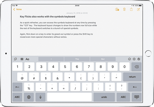 bàn phím flick keyboard trên iphone x