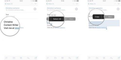 hướng dẫn thay đổi chữ ký cho email trên iphone