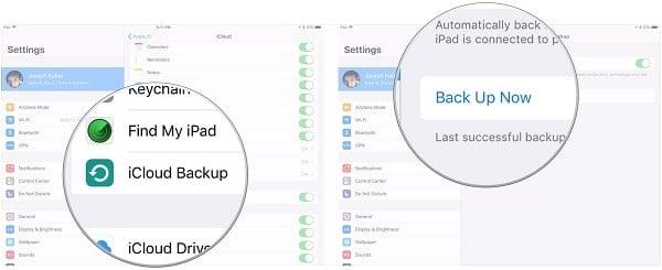 hướng dẫn chuyển file của ipad cũ sang ipad mới