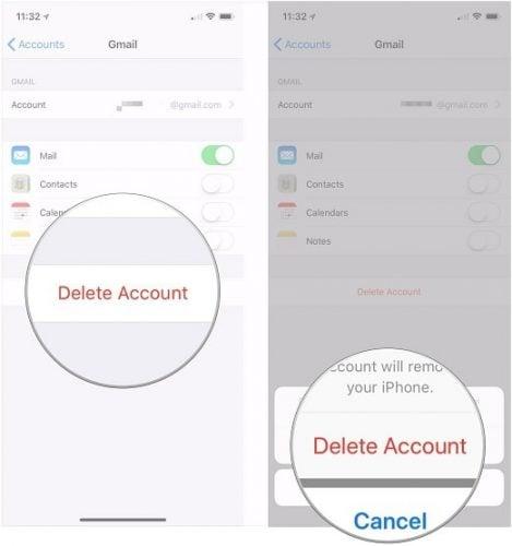 không gửi được email trên iphone