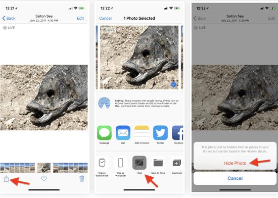 hướng dẫn ẩn hình ảnh cho iphone