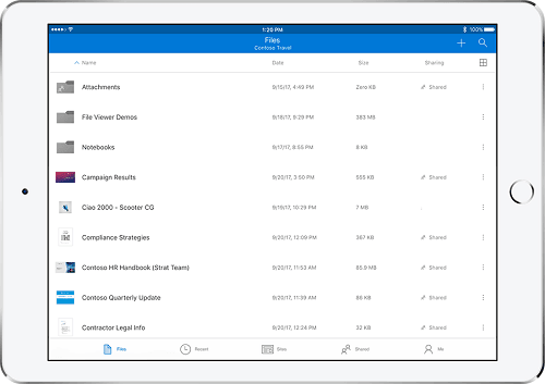 ứng dụng OneDrive iOS