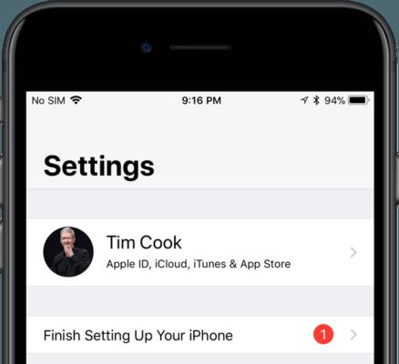 tắt thông báo trong cài đặt của iphone