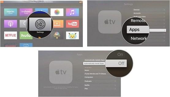 tải ứng dụng trên Apple TV