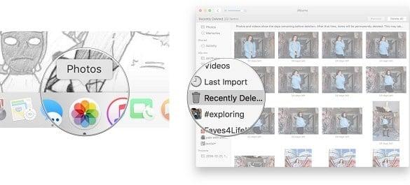 khôi phục hình ảnh của macbook