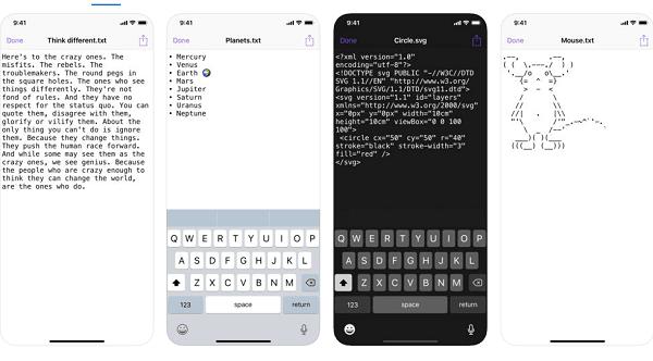hướng dẫn tạo file txt trên điện thoại ios