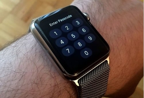xóa passcode trên apple watch