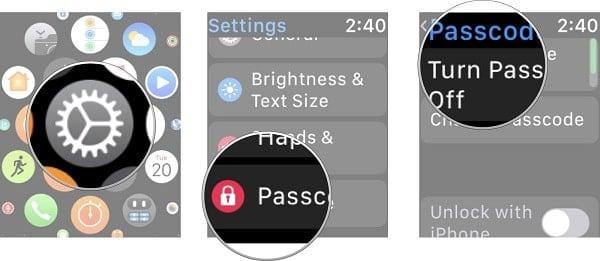 tạo passcode trên apple watch