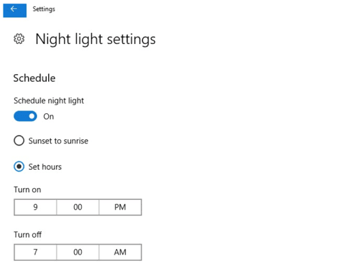 hướng dẫn tắt Night Light trong Windows 10