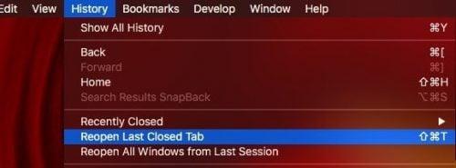 tắt các tab trên safari của MAC