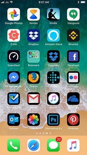 đổi theme trên iphone