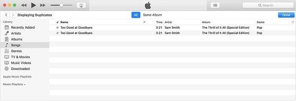 xóa nhạc trên iTunes
