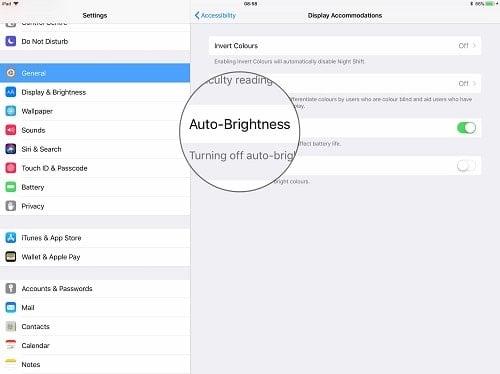 tính năng tự động sáng màn hình của iphone 8