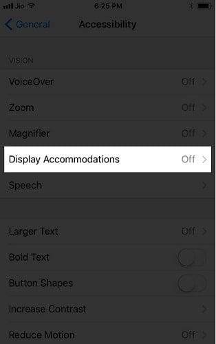 chế độ ban đêm trong iOS 11