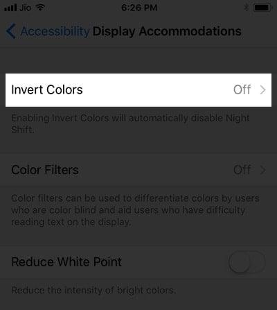 Tắt tính năng Dark Mode trên iPhone