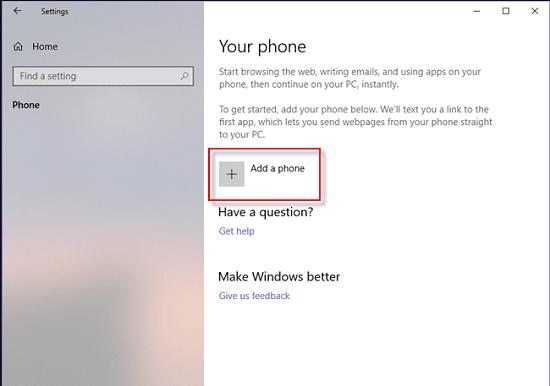 cách kết nối Win 10 với Android