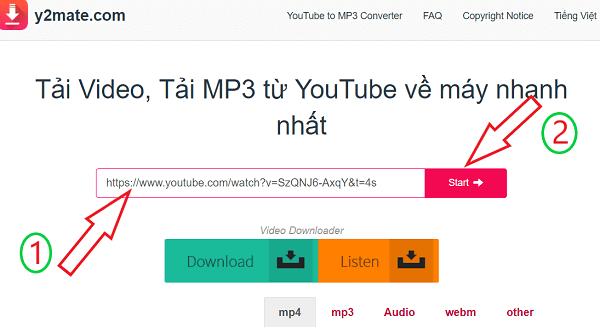 tải video của youtube online