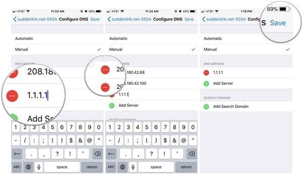 hướng dẫn thêm DNS trên iPhone